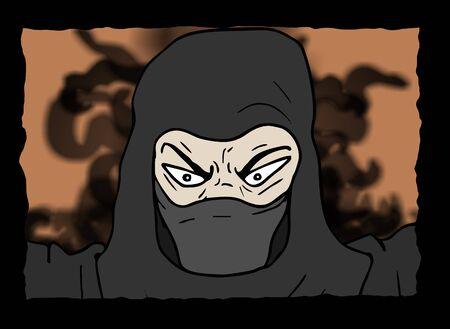 ninja: rebel ninja illustration