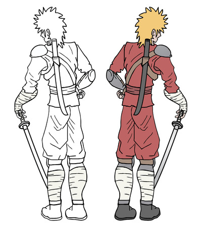imaginative: imaginative samurai Illustration