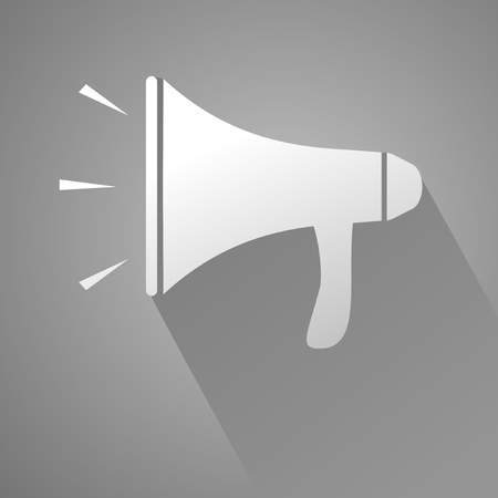 megaphone: elegant megaphone icon Illustration