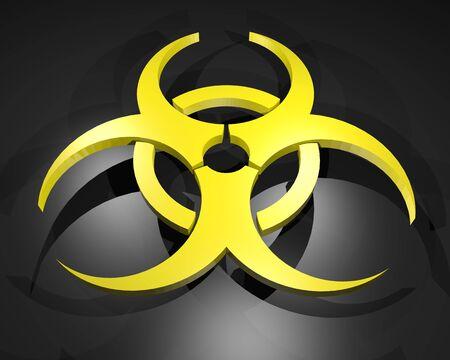 biological hazards: virus symbol Stock Photo