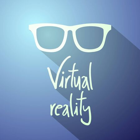 reality: Virtual reality symbol Illustration