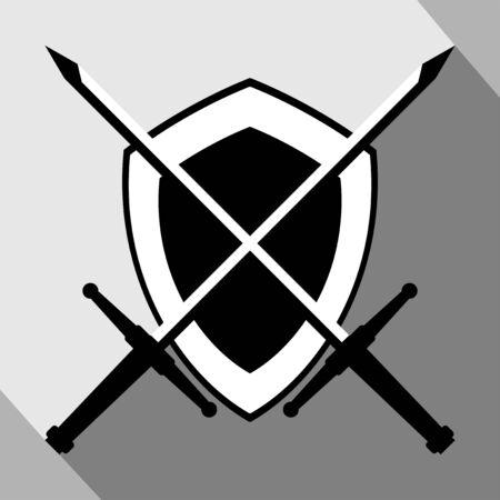 medieval shield: medieval shield emblem