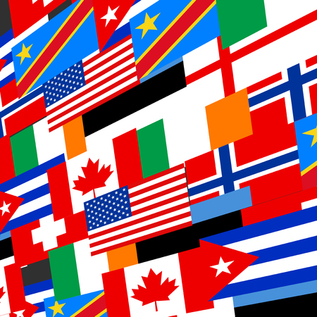 world flags: world flags background Illustration