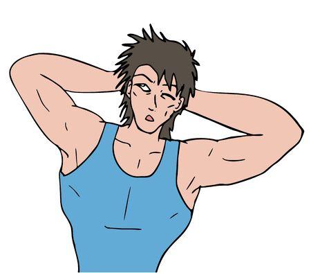 tricep: gym man