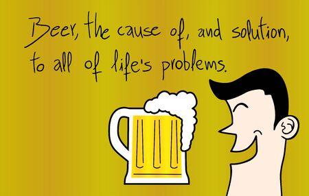 message: beer message Illustration