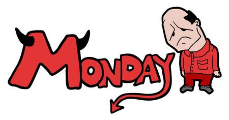 monday: Monday symbol Illustration