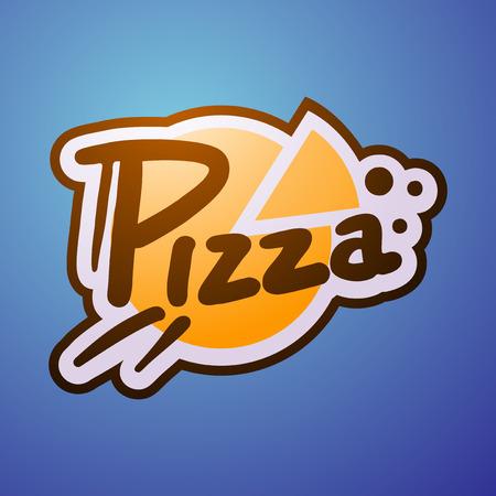 pizzeria label design: pizza symbol