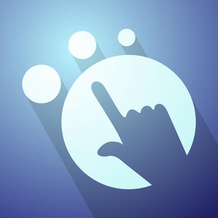Symbole de pointage futuriste Banque d'images - 48762178