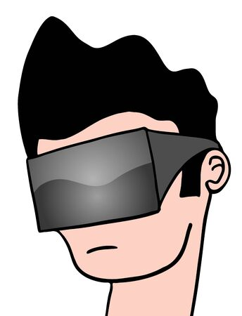 virtual reality glasses Stock Vector - 49473502