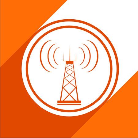 radio mast: Telecommunications tower icon