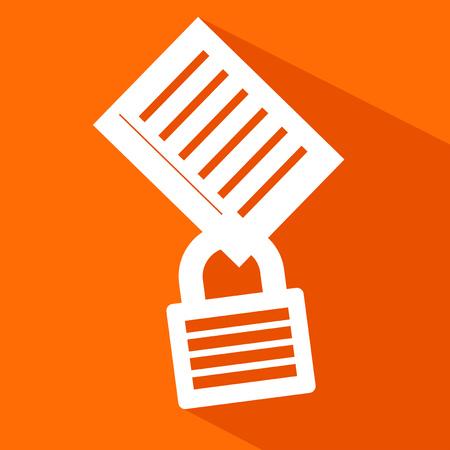 private: private document icon Illustration
