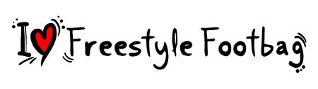 freestyle: Freestyle Footbag love