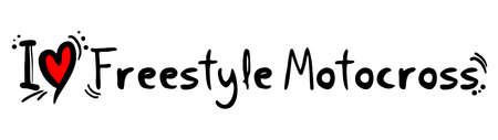 freestyle: Freestyle Motocross love Illustration