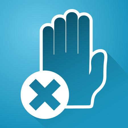 no pase: ning�n icono pase Vectores