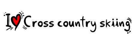 cross country skiing: Cross country skiing love