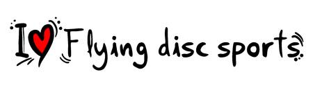 flying disc: Flying disc sports love Illustration