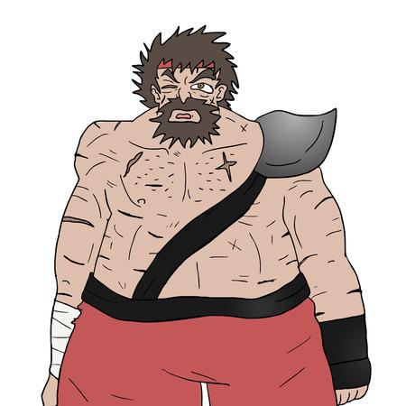 barbarian: barbarian illustration