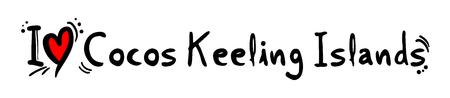 cocos: Cocos Keeling Islands love Illustration