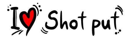 shot put: Shot put love Illustration