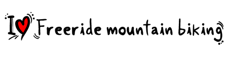 freeride: Freeride mountain biking love Illustration