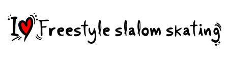slalom: Freestyle slalom skating love