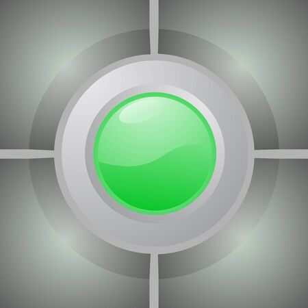 green button: Green button Illustration