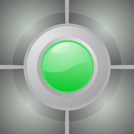 green button: Green button Illustration