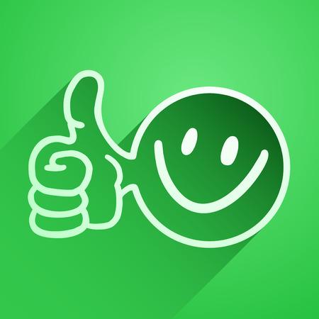 sonriente: feliz icono Vectores