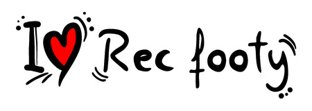 footy: Rec footy love Illustration