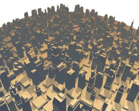 imaginative: imaginative render city Stock Photo