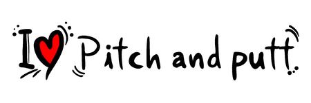 putt: Pitch and putt love Illustration