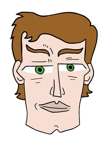 cheek: cartoon man face