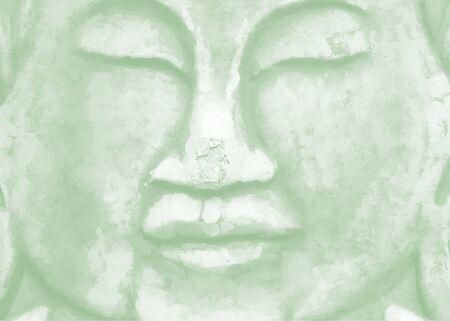 budha: buddha face Illustration