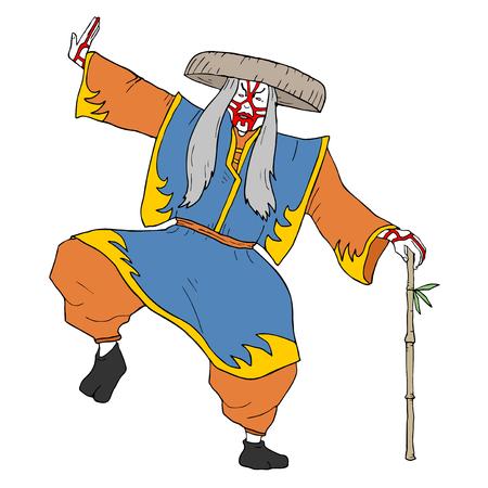 kabuki: kabuki character illustration