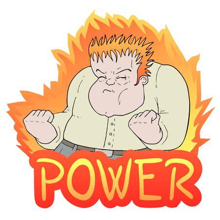 ugly man: power man illustration