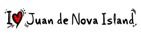 nova: Juan de Nova Island love Illustration