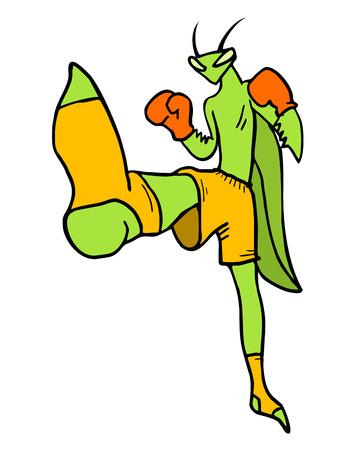 mantis: kick mantis draw