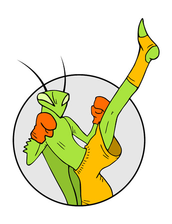 muay thai: muay thai symbol Illustration