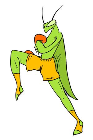 mantis: strong mantis illustration