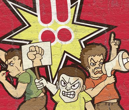 protest: Protest symbol Stock Photo