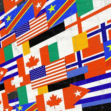 world flags: world flags background Stock Photo