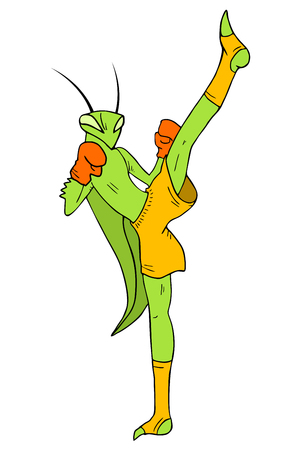 mantis: kick mantis illustration