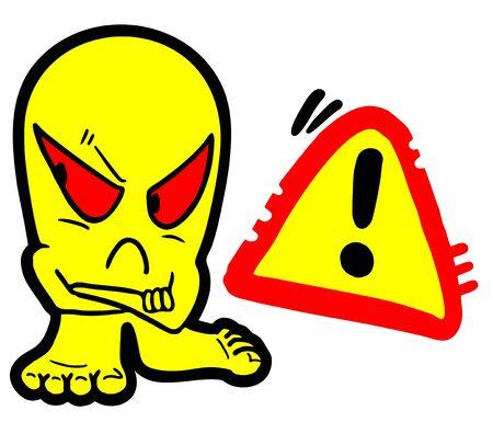 advise: danger symbol design Illustration