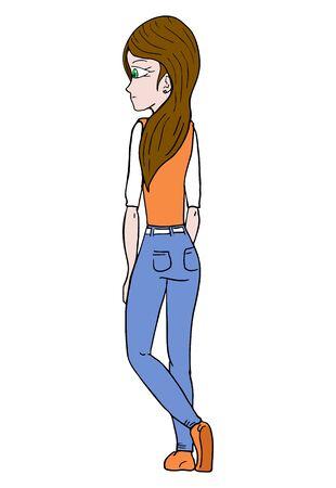 girl: girl draw Illustration