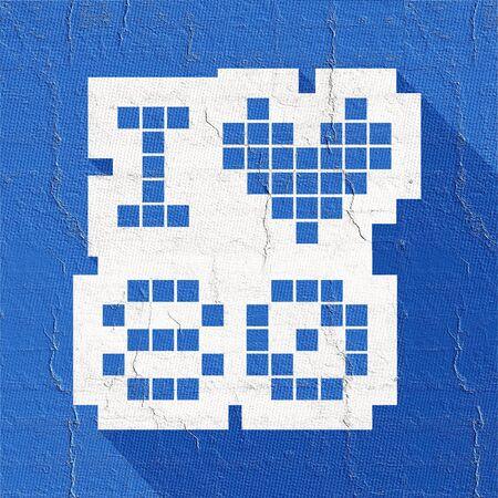 decade: blue love 80 icon