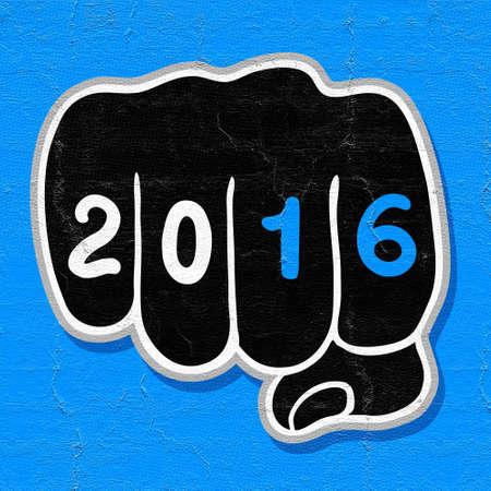 fingers: 2016 fingers Stock Photo