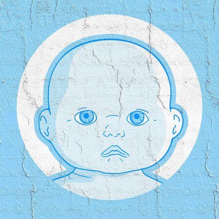 tot: Blue boy Stock Photo