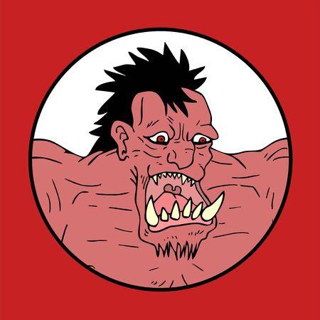 grotesque: monster illustration Illustration