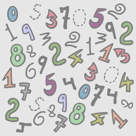numbers background: creative numbers background
