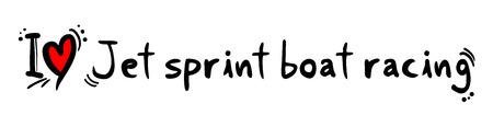 bateau de course: Jet sprint amour de course de bateau Illustration